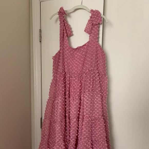 Rose pink midi dress